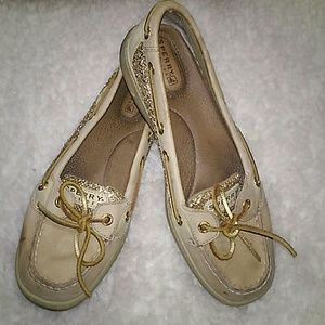 Sperry Top Sider Women's Gold Tan Boat Shoes